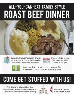 Roast Beef Dinner Fundraiser- Spring 2019